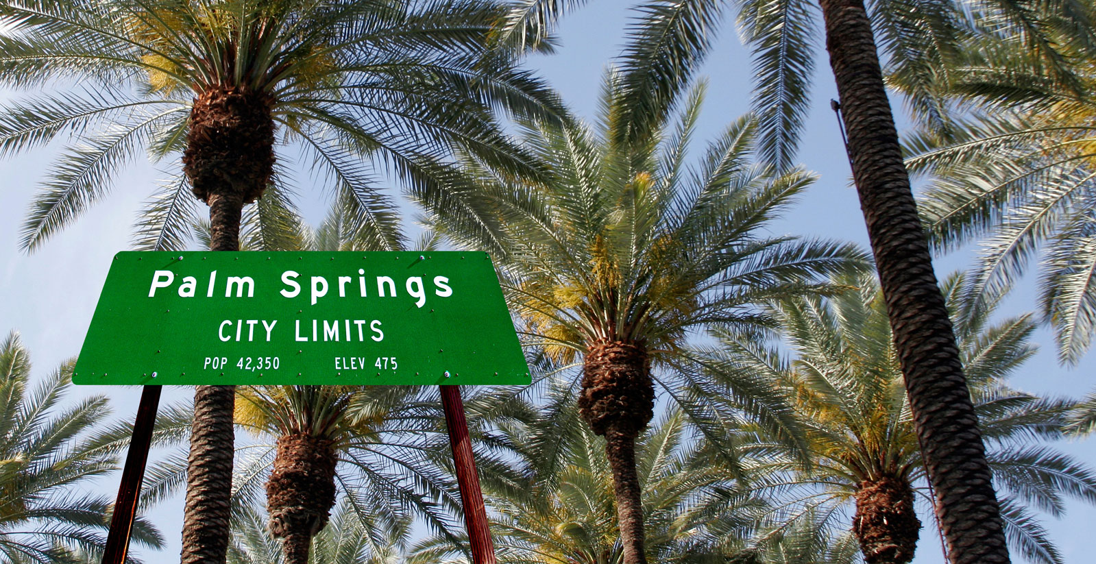 palm springs city limits sign