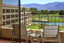 guestroom balcony with mountain and golf course views