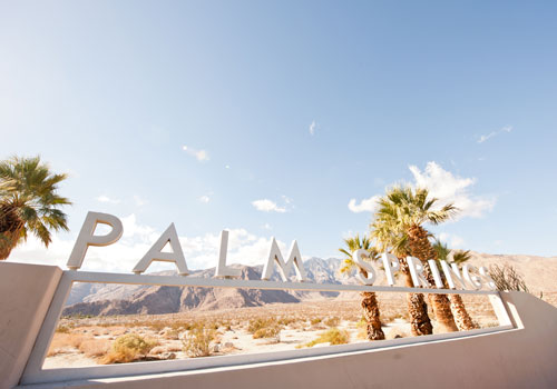 Palm Springs city entrance